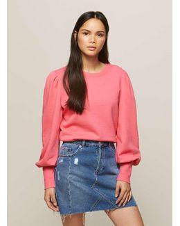 Pink Volume Sleeve Sweatshirt