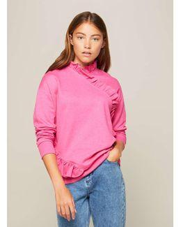Premium Ruffle Neck Sweatshirt