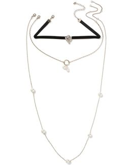 Pearl Multirow Choker Necklace