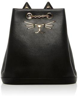 Feline Leather Backpack