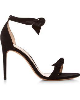 Clarita Suede Tie Front Sandals
