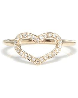 Diamond Pavé Heart Ring
