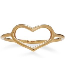 Yellow Gold Delicate Heart Ring