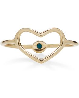 Hidden Turquoise Heart Ring