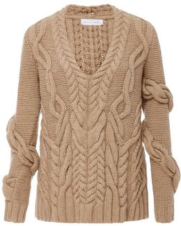 Bay Wrap Cableknit Sweater