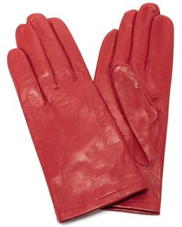 Red Floods Leather Gloves