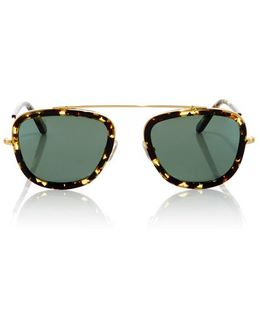 Huey Zulu Square-frame Acetate And Metal Sunglasses