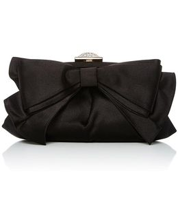 Madison Satin Bow Evening Clutch Bag