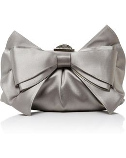 Madison Satin Bow Clutch