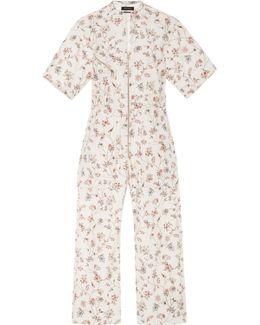 Talma Floral-print Cotton Jumpsuit
