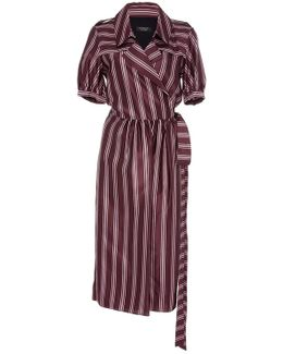 Panama Stripe Robe Dress