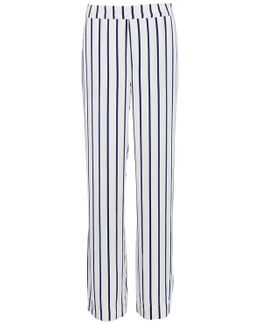 Navy Stripe Pajama Bottoms