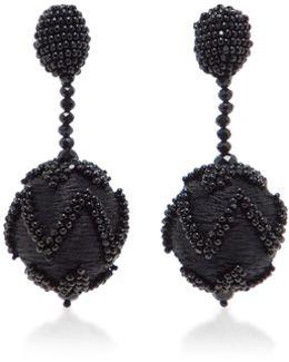 Chevron Beaded Drop Earring