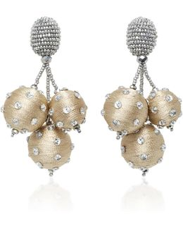 Triple Ball Polka Dot Earrings