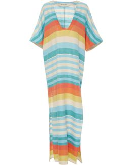 Striped Cotton-gauze Dress