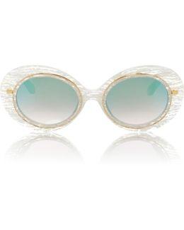 Iris White Linen Sunglasses