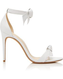 Clarita Bow-embellished Leather Sandals