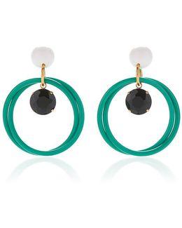 Turqouise Hoop Earrings