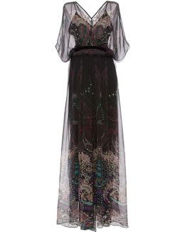 Floor Length Paisley Evening Gown