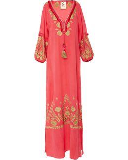 Lola Embroidered Ibiza Maxi Dress