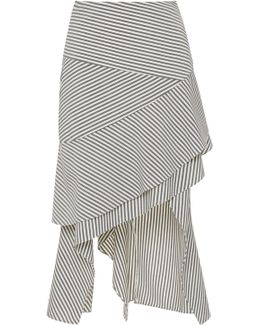 Italian Wool Stripe Carwash Skirt