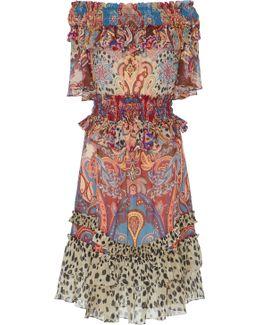 Paisley-print Georgette Dress