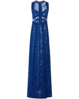 Sleeveless Lace Maxi Dress
