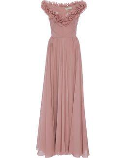 Sleeveless Ruffled Gown
