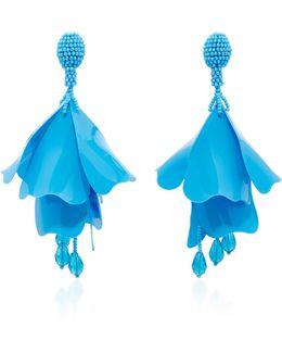 Impatiens Resin Clip Earrings