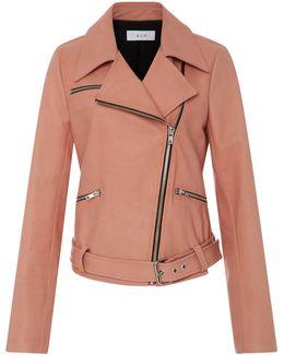 Duvall Leather Biker Jacket