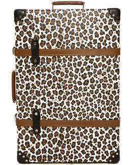 X Globe-trotter Leopard-print Leather Shoe Case