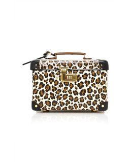 X Globe-trotter Leopard-print Leather Vanity Case