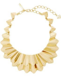 Gold-tone Brass Necklace