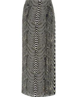 Zebra-print Silk-chiffon Sarong
