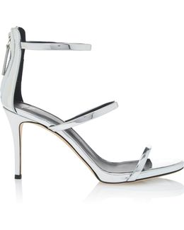 Mirrored Leather Sandals