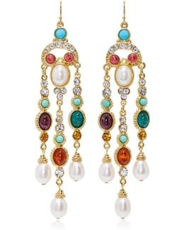 Byzantine Pearl Multi-stone Earrings