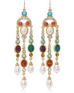 Byzantine Pearl Multi-stone Earrings
