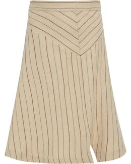 Kini Asymmetric Pinstripe Skirt