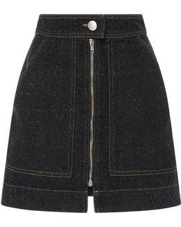 Penelope Zipper Mini Skirt