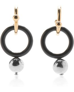 Circle Earrings With Sphere