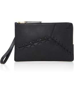 Puzzle Leather Clutch