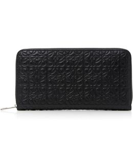 Embossed Leather Wallet