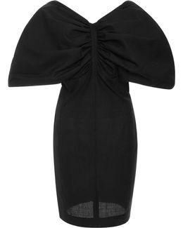 Puff Sleeve Wool Mini Dress