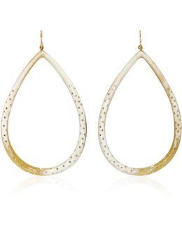 Kambi Horn And Bronze Earrings