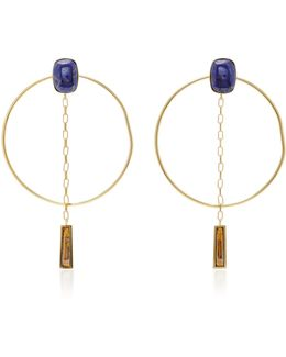 Dancing Gold-tone Hoop Earrings