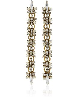 Dancing Queen 24k Gold-plated Crystal And Pearl Earrings