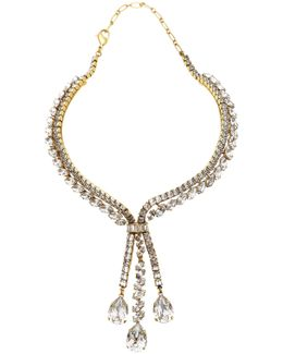 Parlor Trick 24k Gold-plated Crystal Necklace