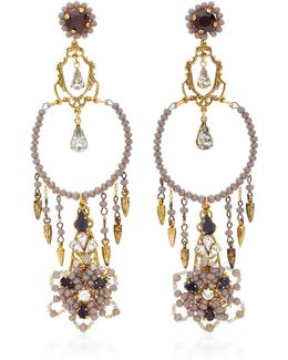 Wild Flower Chandelier Crystal Earrings