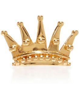 Queen 14k Gold Single Earring
