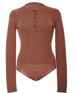 Henley Knit Bodysuit